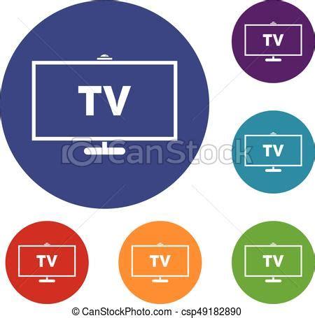 visor imagenes vectoriales gr 225 ficos vectoriales eps de televisor iconos azul