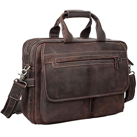 s zone leather shoulder briefcase for 16 inch import it all