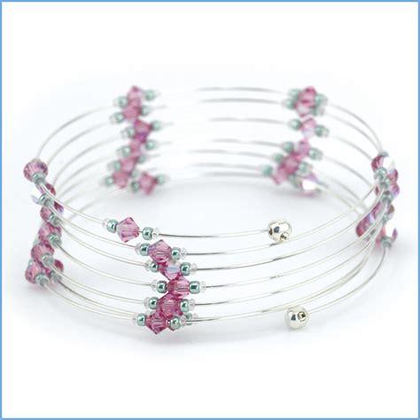 Memory Wire Bracelet Designs   Memory Wire End Cap Bracelet