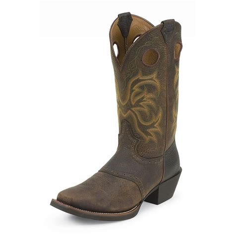 justin boots mens s justin 174 12 quot punchy series boots brown 213345