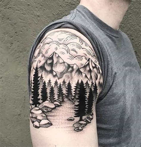 mountain tattoos designs 30 mountain with trees tattoos