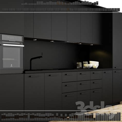Kitchen Tall Cabinets by 3d Models Kitchen Ikea Kitchen Kungsbacka Method