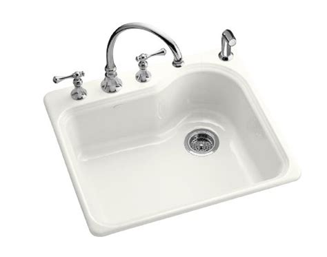 Cheap White Kitchen Sinks | discount kitchen sinks kohler k 5802 3 0 meadowland self