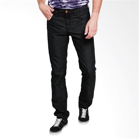Celana Jens Loreng jual emba fm327b pant celana pria jet black harga kualitas terjamin