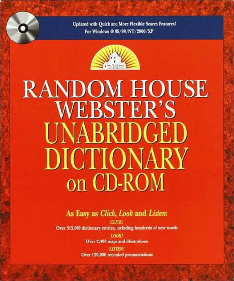 Random House Dictionary Raventos 9780345405470 Random House Webster S Unabridged Dictionary By Random House Hardcover Barnes Noble 174