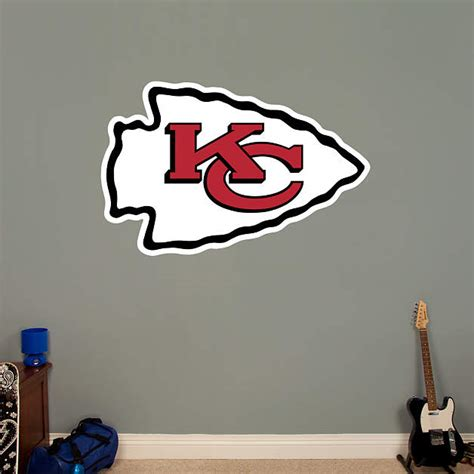 kansas city chiefs logo wall decal shop fathead 174 for