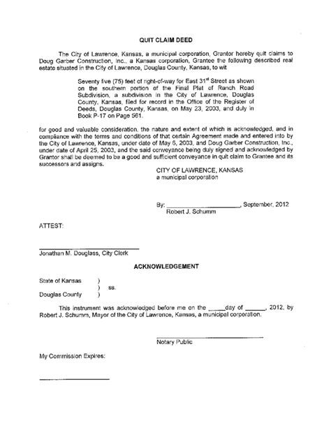 free printable quit claim deed for new york quit claim deed template kansas free download