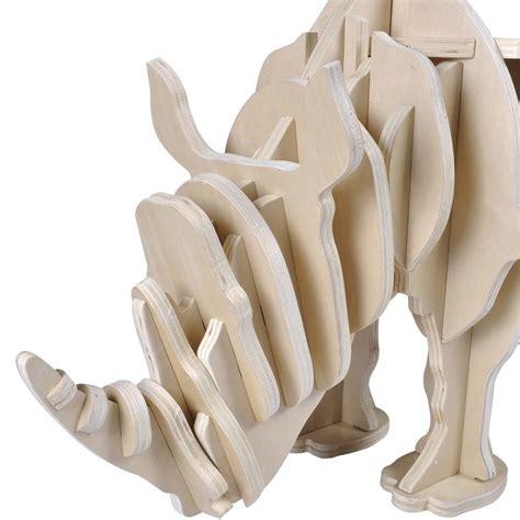 libreria rinoceronte mesa en forma de rinoceronte de madera con estante para