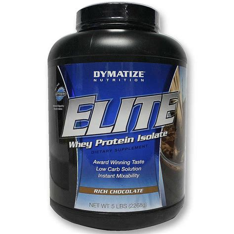 Whey Protein evitamins dymatize nutrition elite whey protein rich chocolate 5 lbs