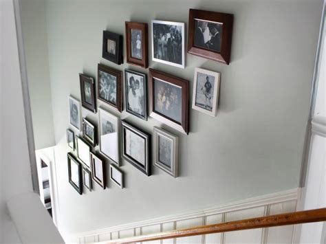how to design a gallery wall create a gallery wall in a stairwell hgtv