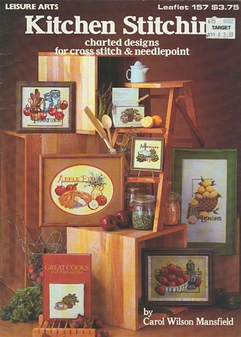 kitchen stitchin cross stitch home decor pattern book