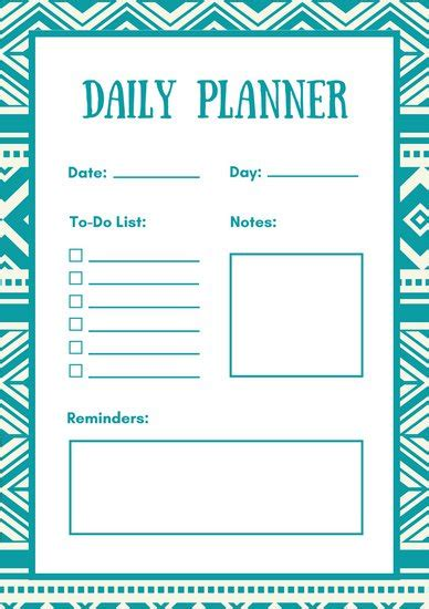 daily planner template pictures to pin on pinterest