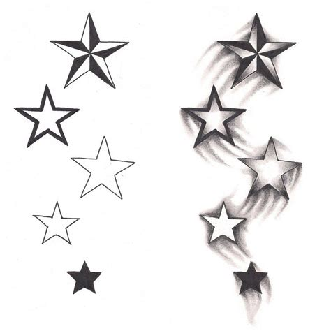 black star tattoo designs freebies shooting design by tattoosavage on