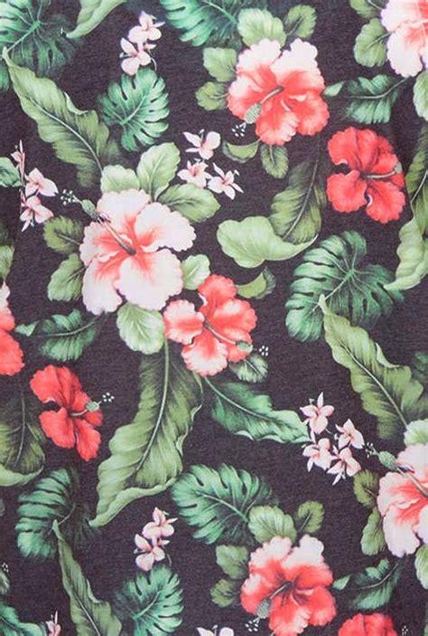 hawaiian floral pattern hibiscus tropical prints pinterest