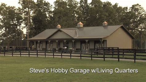 metal garage with living space steve s hobby garage w living quarters