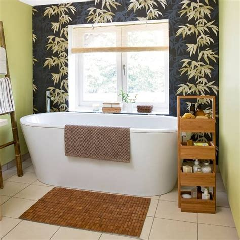 oriental bathroom ideas oriental style bathroom with bamboo feature wall