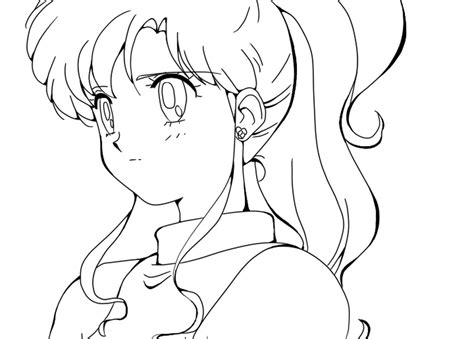 Coloring Pages Online Without Printing | anime girls coloring pages sailor jupiter kino makoto