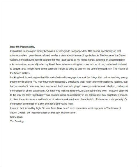 Apology Letter Student apology letter templates in word 31 free word pdf
