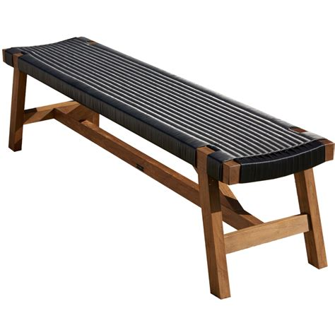 bench black melton craft corfu bench black wicker bbq s outdoor