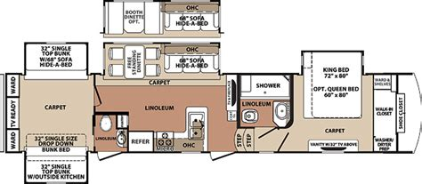 fifth wheel bunkhouse floor plans 2013 blue ridge 3710bh ebay