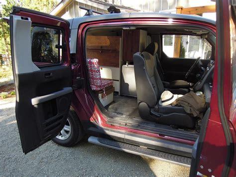 Floor Plans Waterloo ultimate honda element van camping conversion outside