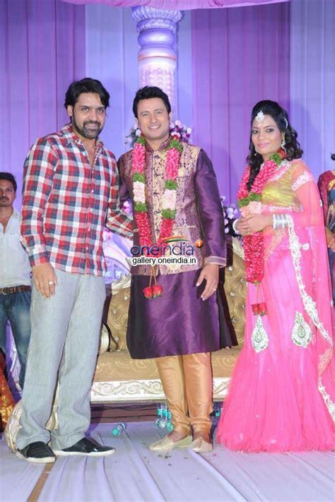 actor raja and his wife telugu actor raja wedding reception stills