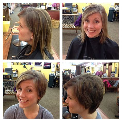 pixie hairstyles before and after before and after pixie cut hair pinterest