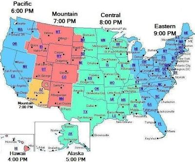timezone map usa maps usa map time zone