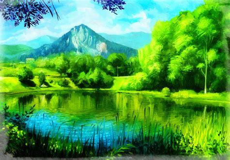 imagenes naturales reales fresco dibujos de paisajes naturales a color