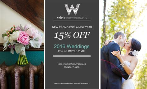 Discount Wedding Photography by Wedding Photography Promo Wink Photography Vancouver
