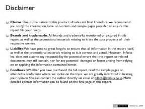 Trademark Disclaimer Template by Mixi Mobile Research Report V2 0