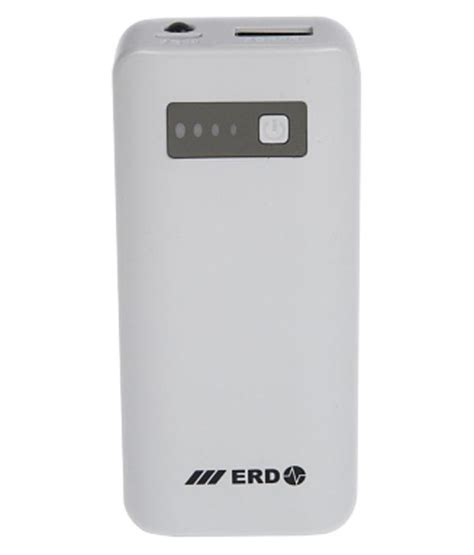 Pb Enerpad 5200 Mah erd pb 203s 5200 mah power bank white power banks at low prices snapdeal india