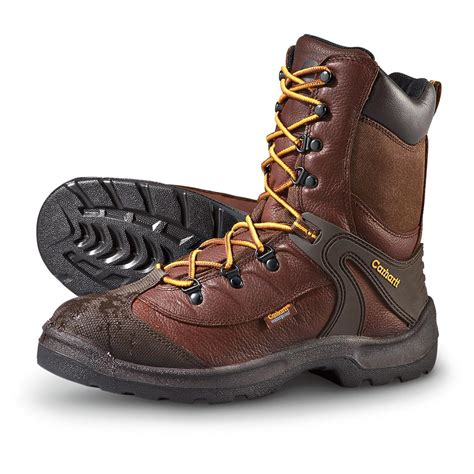 mens carhartt boots s carhartt 174 waterproof 8 quot work boots brown 172173