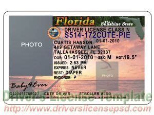 Florida Drivers License Template by Florida Drivers License Template Hqtracker