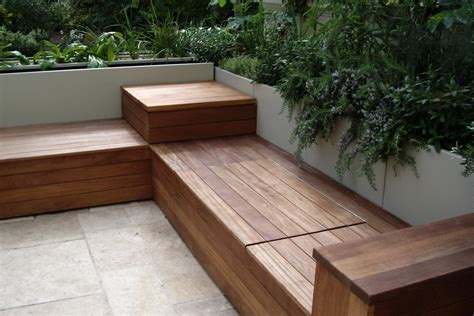 patio bench storage deck bench with storage 171 karolciblog