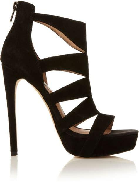 madden high heels steve madden spycee caged high heel sandals in black