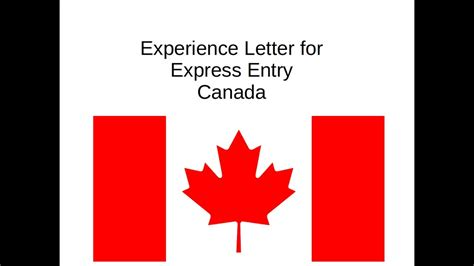 Employment Letter Canada Express Entry immigrate to canada experience letter for express entry