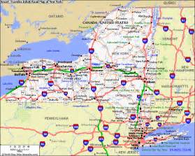 Map Of New York by The Hollywood Gossip New York State Map