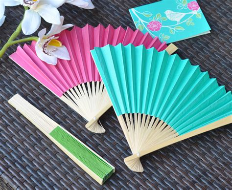 How To Make A Paper Fan For Weddings - fans bamboo paper fan wedding favors