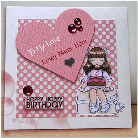 Birthday Cards For Lover Pics Happy Birthday Greeting Card For Lover With Custom Name