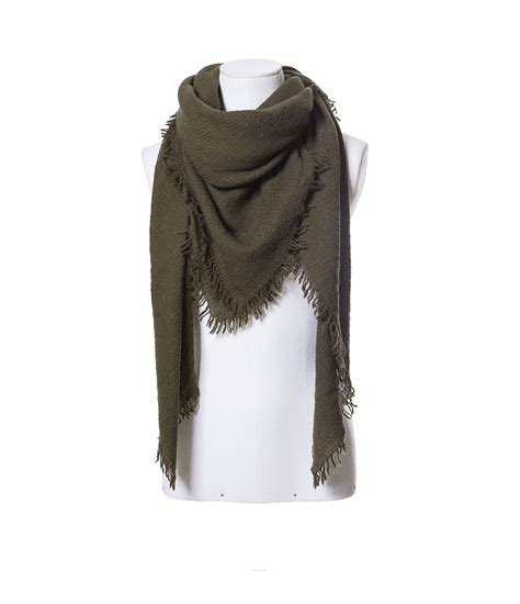 zara khaki wool scarf in green lyst