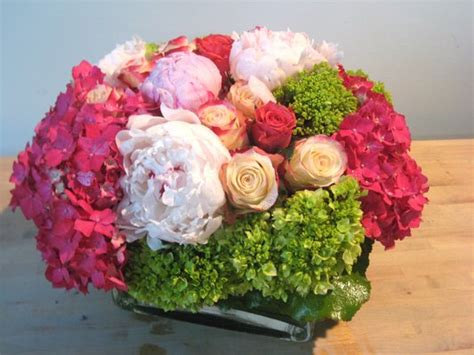 stunning pink peonies greens white roses centerpiece hydrangea and peony centerpieces bouquet wedding flower
