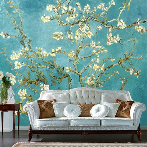 custom 3d mural retro painting flowers photo wallpaper home decor living room 3d wall paper