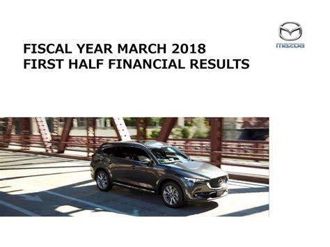 mazda motor corp mazda motor corp adr 2018 q2 results earnings call