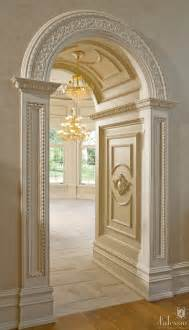 Home Interior Arch Designs by Arched Doorway With Beautiful Millwork Halls Entry Ways