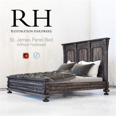 restoration hardware st james bed 3d models bed restoration hardware st james panel bed