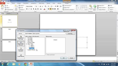 tutorial hyperlink powerpoint 2010 how to hyperlink powerpoint 2010 slides to one another