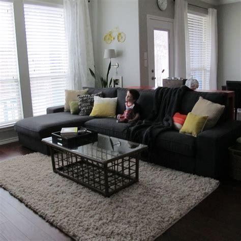 kivik loveseat and chaise lounge dansbo gray