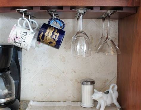 coffee cup rack under cabinet 51 home storage organization ideas ultimate home idea