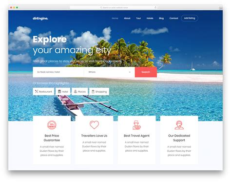 27 Free Travel Agency Website Templates With Premium Features 2019 Free Travel Agency Website Templates